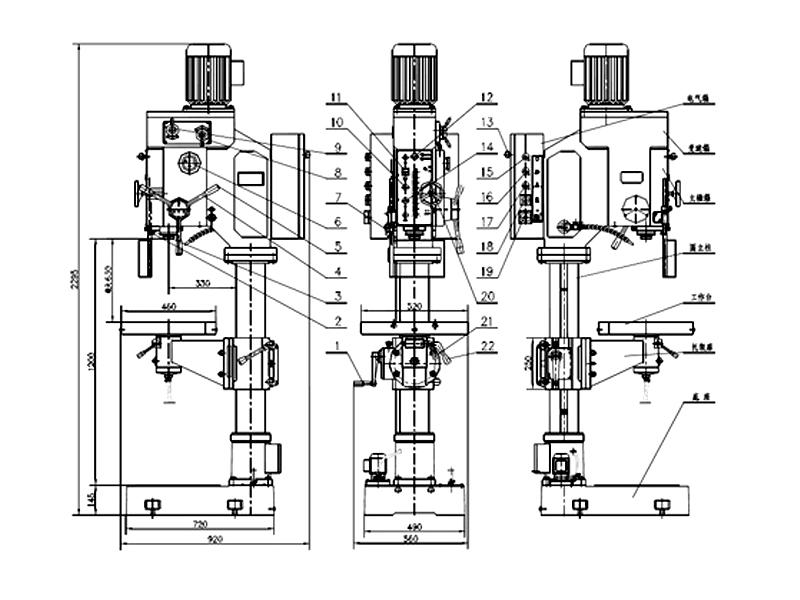 Z5040機床外形圖